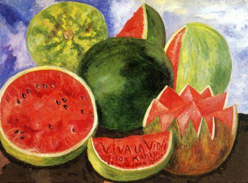 Cuadro viva la vida de Frida Kahlo