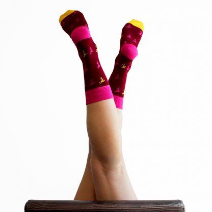 Mandela caña media - Calcetines originales mujer