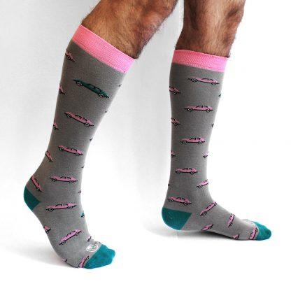 McQueen caña alta - Calcetines divertidos hombre