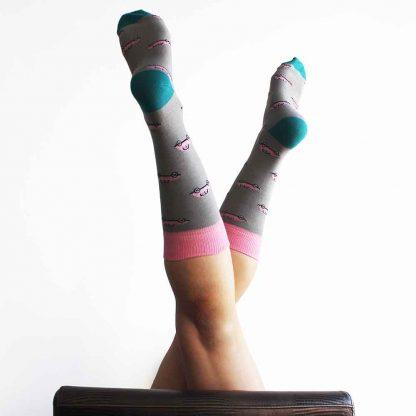 McQueen caña media - Calcetines divertidos mujer