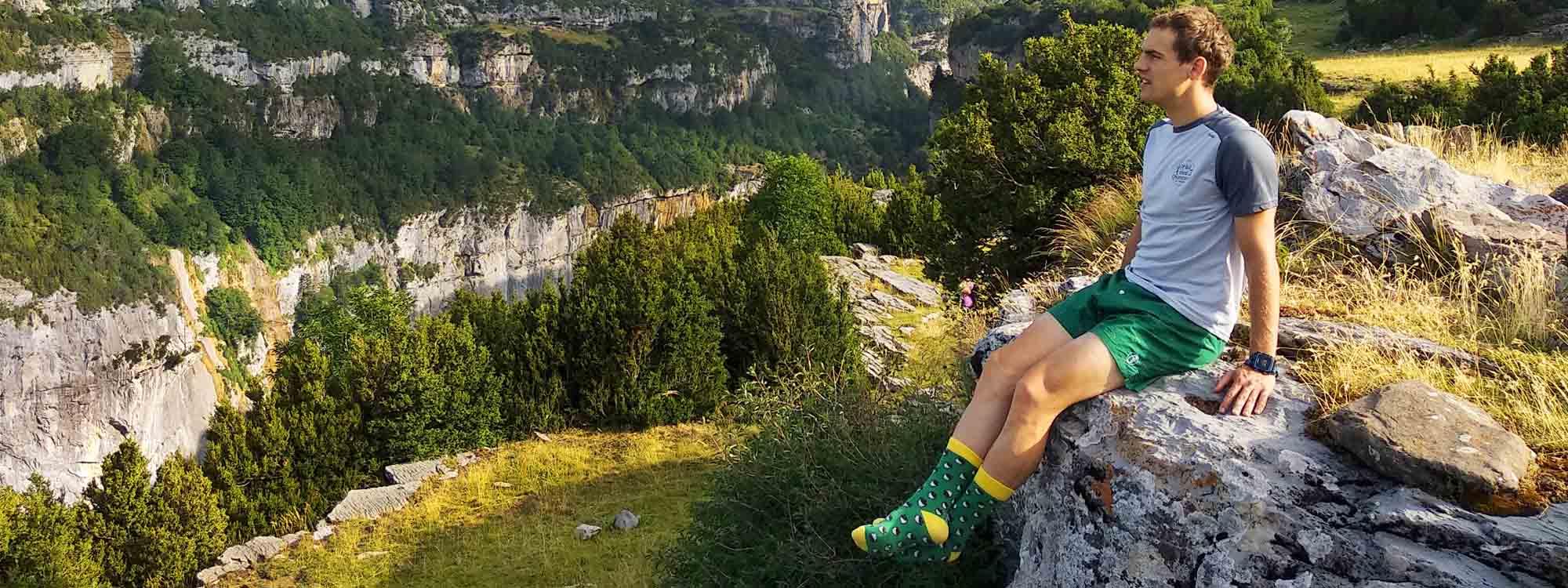 Calcetines originales hechos en España orgánicos orgánicos sobre fondo natural