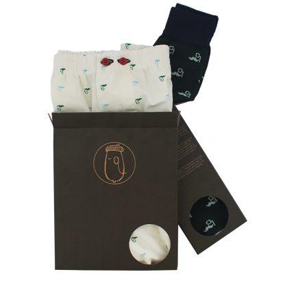 Regalar pack de calzoncillos y calcetines originales hechos en españa